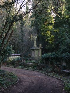 Today, why don't we meet around the corner on this dusty road. Cemetery Angels, Cemetery Statues, Cemetery Headstones, Old Cemeteries, Cemetery Art, Graveyards, The Magnificent Seven, Spooky Places, Catacombs