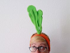 Carrot Headband  Kids or Adult Veggie Costume  от jumbojibbles