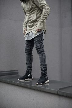 "admirableco: ""Gray jeans and olive hoodie by Admirable.co www.admirable.co """