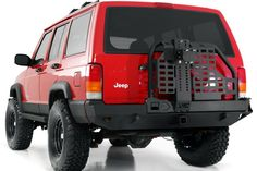 Xj rear bumper with swing out spare tire mount