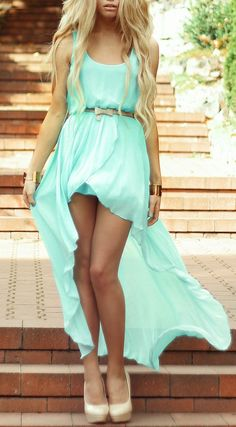Mint Hi Lo Dress