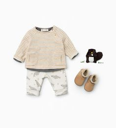 Image 1 of from Zara Baby Outfits, Outfits Niños, Little Boy Outfits, Fashion Kids, Baby Boy Fashion, Ropa American Girl, Kids Wardrobe, Kid Styles, Kind Mode