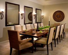 Gorgeous contemporary dining room with sconce lighting Lighting Up Your World: How To Use Wall Sconces With Sparkling Flair
