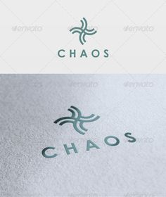 very simple logo that clearly conveys the point of chaos, by using all capital bold text and a neat symbol