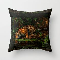 The Royal Bengal Tiger ( Throw Pillow by CoSurvivor - $20.00