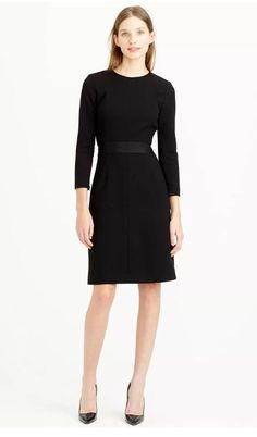 J Crew Little Black 100% Wool Career Cocktail Dress NWT $228 Sz 8 #C1063 #JCrew #WigglePencil #Cocktail