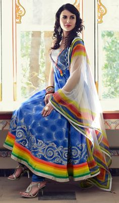 G3 Fashions Blue Cotton Wedding Wear Designer Salwar Suit  Product Code : G3-LSA104333 Price : INR RS 6000