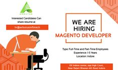 Hello connection,  We are Hiring for positions,  Magento Developer  Experience: 01 to 05 Years,  Salary: No Salary Bar for right candidate  Location: Indore  Kindly share the resumes on hr@arbutusinfoech.com  #Mangentodeveloper #Indore #wearehiring #right #positions #experience We Are Hiring, Jobs Hiring, Hiring Poster, Pre Wedding Shoot Ideas, Indore, Skin Treatments, Resume, Connection, Advertising