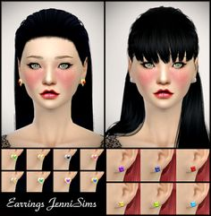 My Sims 4 Blog: Earrings by JenniSims