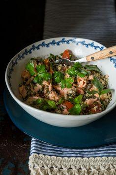 Who's hungry? Salmon Buckwheat with Granola Crunch