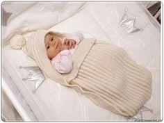 Crochet Patterns Sleep Sack Viking Baby Ull Sleepingbag by Viking of Norway A buttoned sleep sack fo… Knitting For Kids, Baby Knitting Patterns, Baby Patterns, Crochet Patterns, Crochet Ideas, Crochet Cocoon Pattern, Crochet Baby Cocoon, Baby Bunting, Bunting Bag