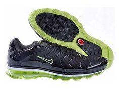 brand new 47c70 cdeed Chaussures de Nike Air Max Tn Requin Homme Bleu foncé et Vert Nik Tn