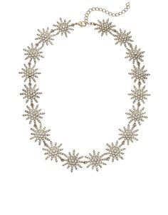 Starlet Pave Stars Collar Necklace