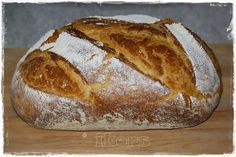Bauernkruste-leckeres Brot aus dem Römertopf Farmers' crust – delicious bread from the Roman pot Vegetarian Breakfast Recipes Easy, German Bread, Home Bakery, Bread And Pastries, Pampered Chef, Bread Rolls, Special Recipes, Bread Baking, Casserole