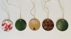 Hand painted, Christmas/holiday gift tags, gift wrapping by JessicaFraserArt on Etsy
