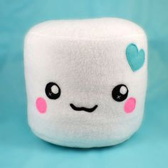 Marshmallow plushies  pillows cushions chocolate by Plusheez