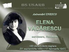 Aniversări UNESCO: Elena Văcărescu - scriitoare, România : 150 de ani de la naștere (21 sept. 1864 -  Expozitie on-line