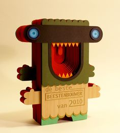 Hand Cut Paper Beast Award from Sigrid Spier