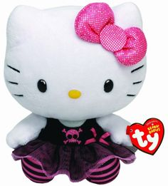 Hello kitty Ty Beany Baby pluche knuffel PUNK 15 cm
