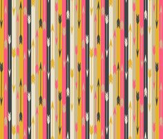 Arrows in Stripes fabric by papersparrow on Spoonflower - custom fabric