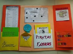 Maestra de Primaria: Lapbook o libros desplegables con bolsillos School Projects, Projects For Kids, Pirate Activities, Grande Section, Project Board, Teacher Hacks, Interactive Notebooks, Classroom, Scrapbook