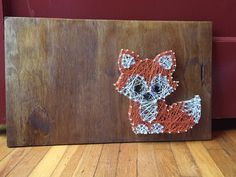 Baby fox string art by InspiredCreationsJKC on Etsy