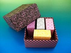 A set of heart origami boxes  Favor boxes . Gift by SalutationNext