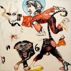 NUNKI SAUTE PAR DESSUS LE D.A.C. ET RENCONTRE L AUROCH - http://www.oho-art.com/oeuvres/nunki-saute-par-dessus-le-d-a-c-et-rencontre-l-auroch/