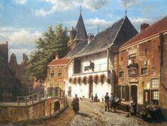 Willem Koekkoek (Amsterdam 1839-1895 Nieuwer-Amstel (thans Amstelveen)) De Koppelpoort in Amersfoort - Kunsthandel Simonis en Buunk, Ede (Nederland).