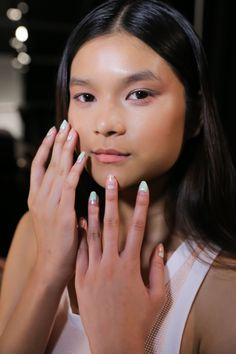 The Negative Space Nails at Charlotte Ronson Spring 2015 - Beauty Editor: Celebrity Beauty Secrets, Hairstyles