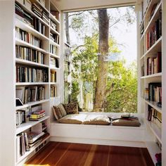 A little nook like this could be built off of any random hallway as a nice retreat that doesn't take up too much space.