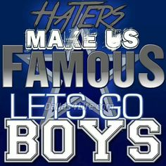 Haters make us famous