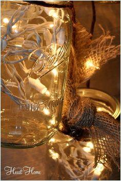 DIY Mason Jar Light | All Things Heart and Home