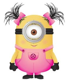 Ponytails in Pink Minion.too cute! Amor Minions, Minions Despicable Me, Minions Quotes, Minions 2014, Evil Minions, Pink Minion, My Minion, Minion Stuff, Funny Minion