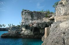 Get your adrenaline pumping by cliff jumping in Negril, Jamaica. Jamaica Resorts, Negril Jamaica, Diving Quotes, Cliff Diving, Citronella, Pumping, Stuff To Do, Greece, Hawaii