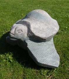 This playful turtle is made of local granite in Lithuania. It is a perfect decoration for a garden. It do not require maintenance and sustain any conditions.  If you need further information or you want to have one, just visit our online shop: GiftsOfArtisan.com.