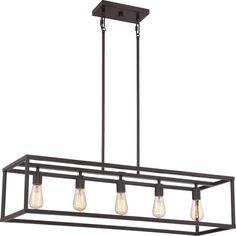 Quoizel NHR538 New Harbor 5 Light Chandelier Western Bronze Indoor Lighting Chandeliers
