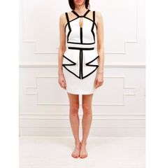 Sass & Bide - The Grand Scene Fitted Dress With Peplum Detail