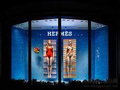 TABLADO LISTRADO DE NAVY ATRAS, MEIO LISTRA MEIO LISO Hermes windows 2014…