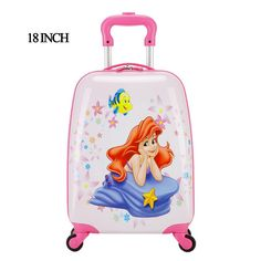 """18"""" New fashion Spinner weel Children suitcase/Cartoon Child Girl Princess Cat ABS trolley case/Girls Children Luggage Suitcase                                                                                                                                                                                 More Trolley Case, Luggage Brands, Suitcase, Cartoons, Cartoon, Cartoon Movies, Briefcase, Comics And Cartoons, Comic Books"""