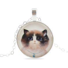 Cute Cat Silver Color Necklace