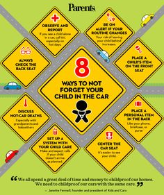 #Safety 411: 8 ways to not forget your child in the car.