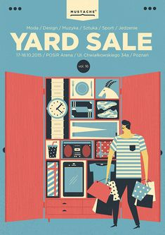 a selection of yard sale posters   2015 on Behance