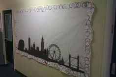 Background for reception display board. London Olympics, border is childrens art.