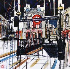 Paul Kenton - London 43 City Landscape, Urban Landscape, London Architecture, Architecture Art, Paul Kenton, Gcse 2017, London Illustration, A Level Textiles, Street Painting