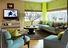 Warna Cat Ruang Tamu Yang Sejuk Kombinasi Hijau Dan Krem Living Room Green Small