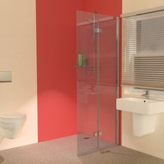 Wet Room Shower Screens - We have curved and straight glass, hinged space saving Wet Room Screens which will swing both inwards and outwards. Choose a wet room shower screen to suit your requirements. Wet Room Shower Screens, Shower Panels, Shower Doors, Glass Shower, Shower Tub, Small Wet Room, Glass Screen Door, Wet Room Flooring, Simple Bathroom