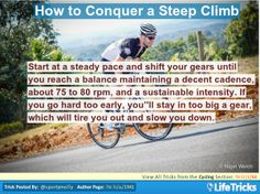 Cycling - How to Conquer a Steep Climb