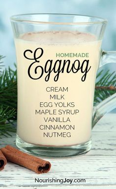 It's easy to have a love affair with creamy classic homemade eggnog - after all it's delicious it's nourishing and it's truly deeply joy-inducing. Whip up a batch to fall in love yourself. Christmas Drinks, Holiday Drinks, Christmas Desserts, Holiday Treats, Christmas Treats, Christmas Baking, Holiday Recipes, Holiday Appetizers, Christmas Recipes