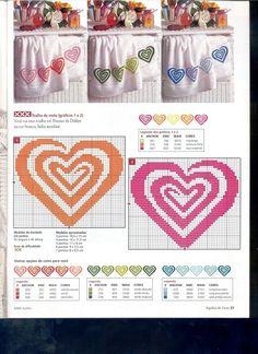 cross stitch hearts! Too cute!